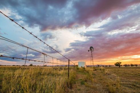007-January16-Windmill sunset - Nick Clark