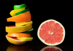 Stacked citrus fruit Food Photography